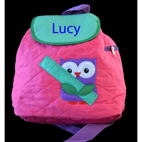 Personalised Owl Backpack